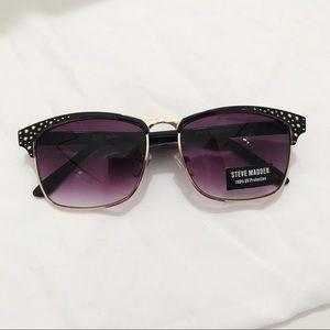 Steve Madden Black Wireframe Cat Eye Sunglasses